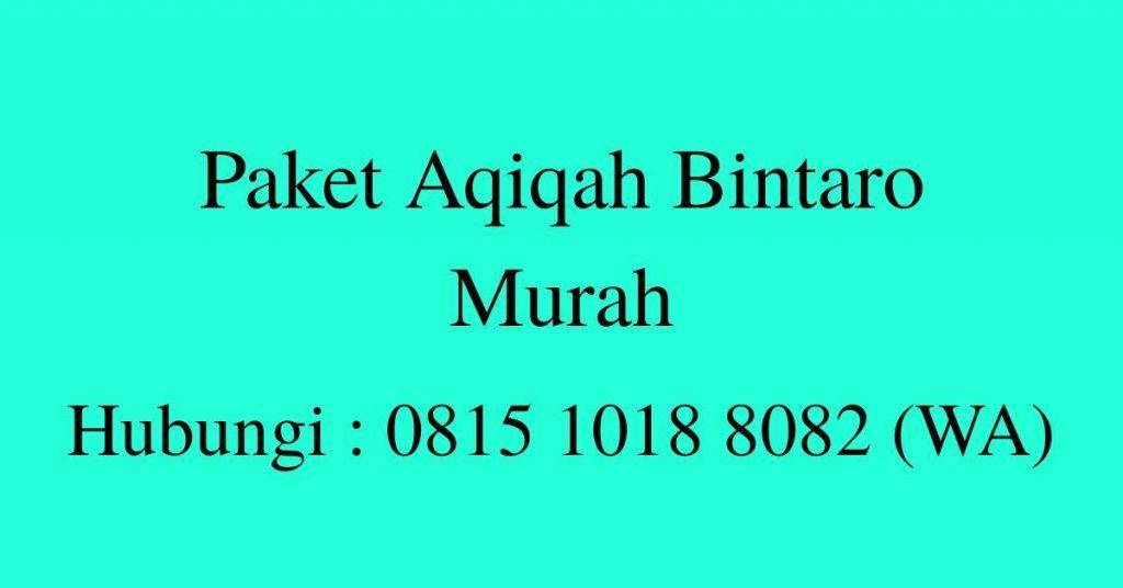 Harga Paket Aqiqah di Bintaro