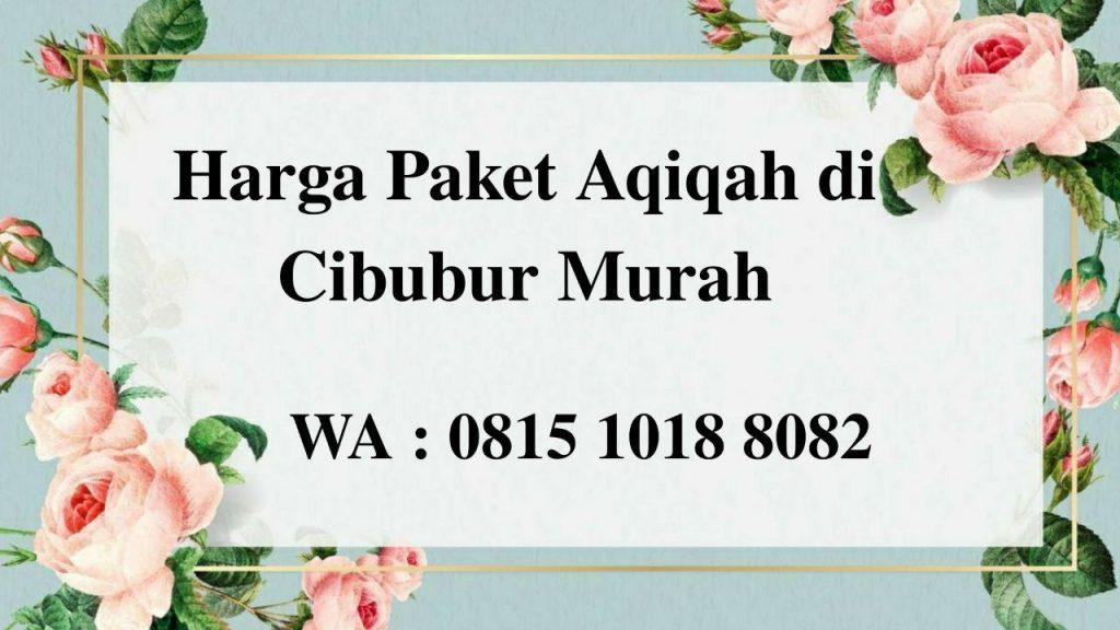 Harga Paket Aqiqah di Cibubur