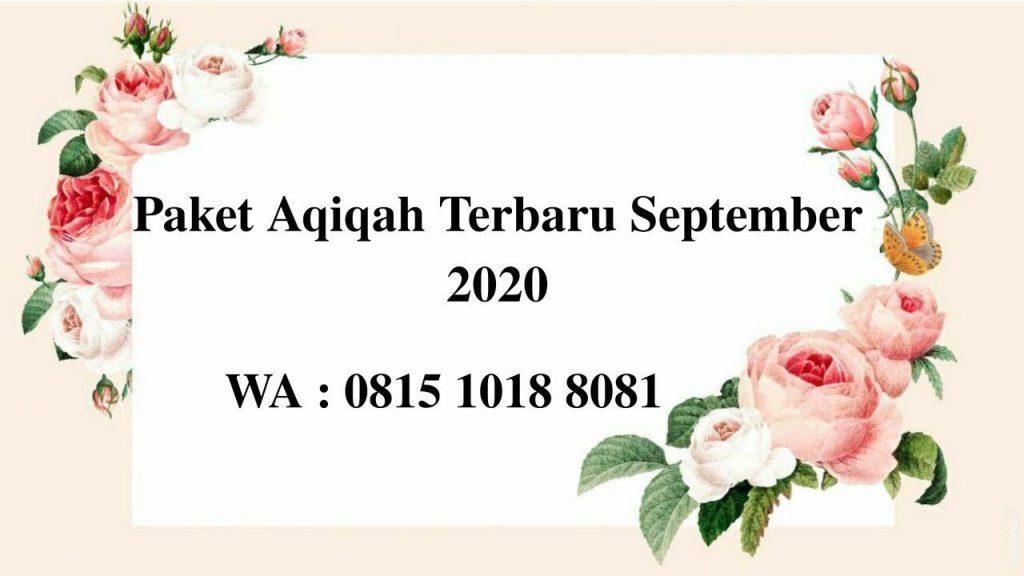 Paket Aqiqah Terbaru September 2020