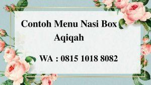 Contoh Menu Nasi Box Aqiqah