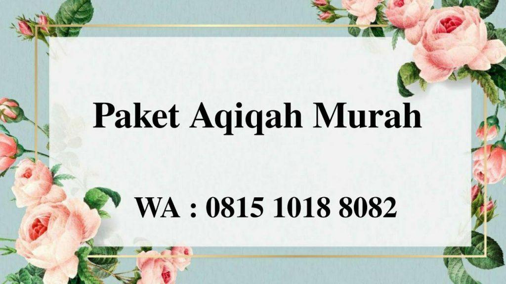 Paket Aqiqah Anak Laki-Laki Jakarta