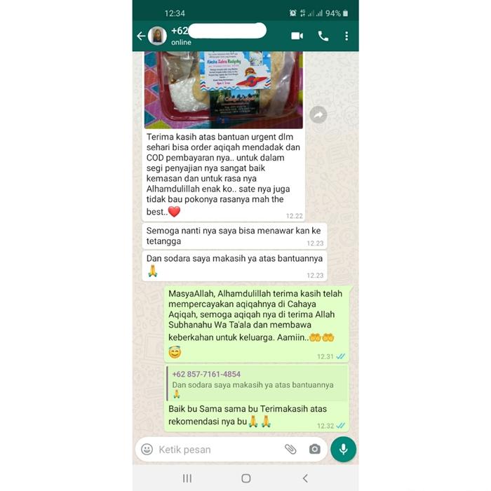 Testimoni Aqiqah Jakarta